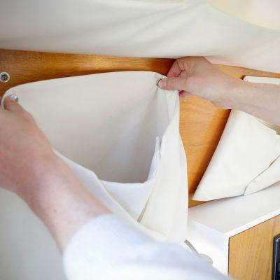 Pochette textile amovible
