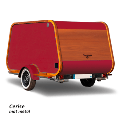 Carapate Aventure - Modèle Carriole - couleur cerise